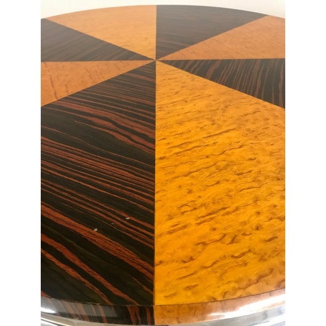 1930s 1930s Art Deco Macassar and Tiger Maple Side Table For Sale - Image 5 of 9
