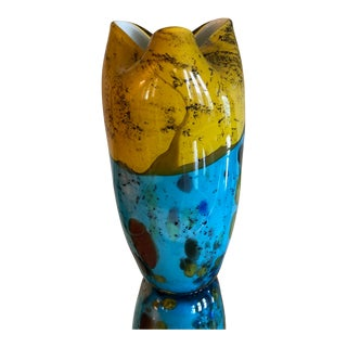 Mexican Blown Glass Vase For Sale