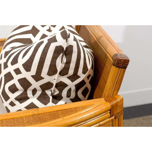 Unusual Pair of Bamboo and Raffia Lounge/Club Chairs For Sale In Atlanta - Image 6 of 8
