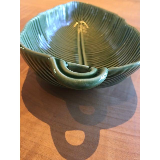 Ceramic Bordallo Pinneiro Tropical Green Leaf Bowl For Sale - Image 7 of 8