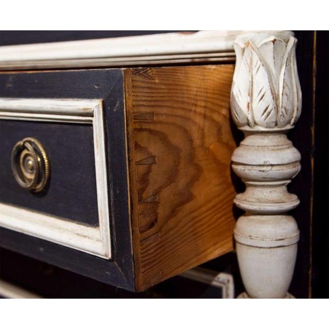 Swedish Gustavian Style Secretary Drop-Front Desk For Sale - Image 9 of 10