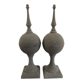 Traditional Decorative Obelisks - A Pair For Sale