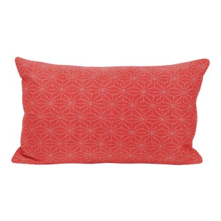 Japanese Geometric Silk Kimono Pillow For Sale