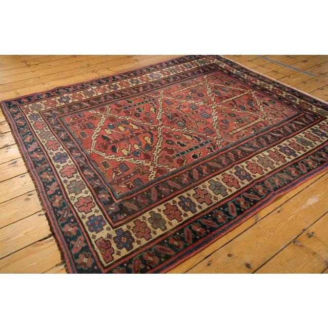 "Vintage Kurdish Square Carpet - 5'5"" X 6'2"" For Sale - Image 10 of 12"