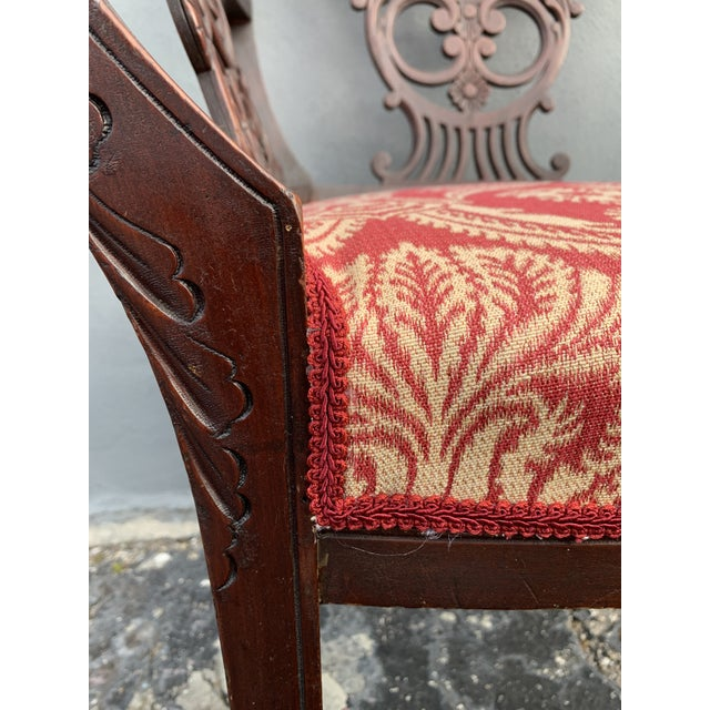 Antique Jacobean Accent Chair For Sale In Miami - Image 6 of 13