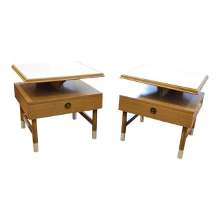 Johnson Furniture Floating Mid Century Night Stands - a Pair
