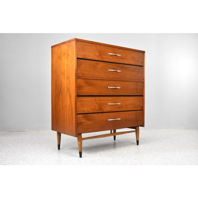 "Iconic mid-century modern Lane 'Acclaim' highboy dresser, C1960s. Designed by Warren Church, the ""Acclaim"" series by Lane..."