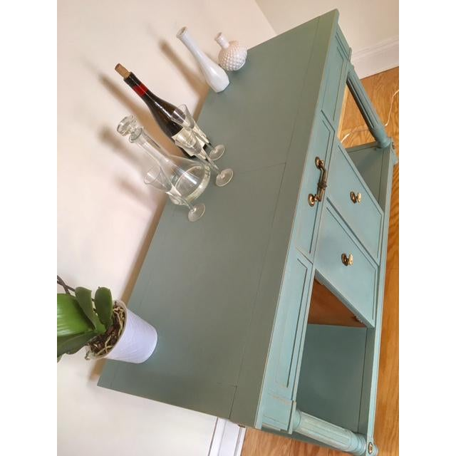Thomasville Blue Wood Buffet / Server For Sale In Philadelphia - Image 6 of 10