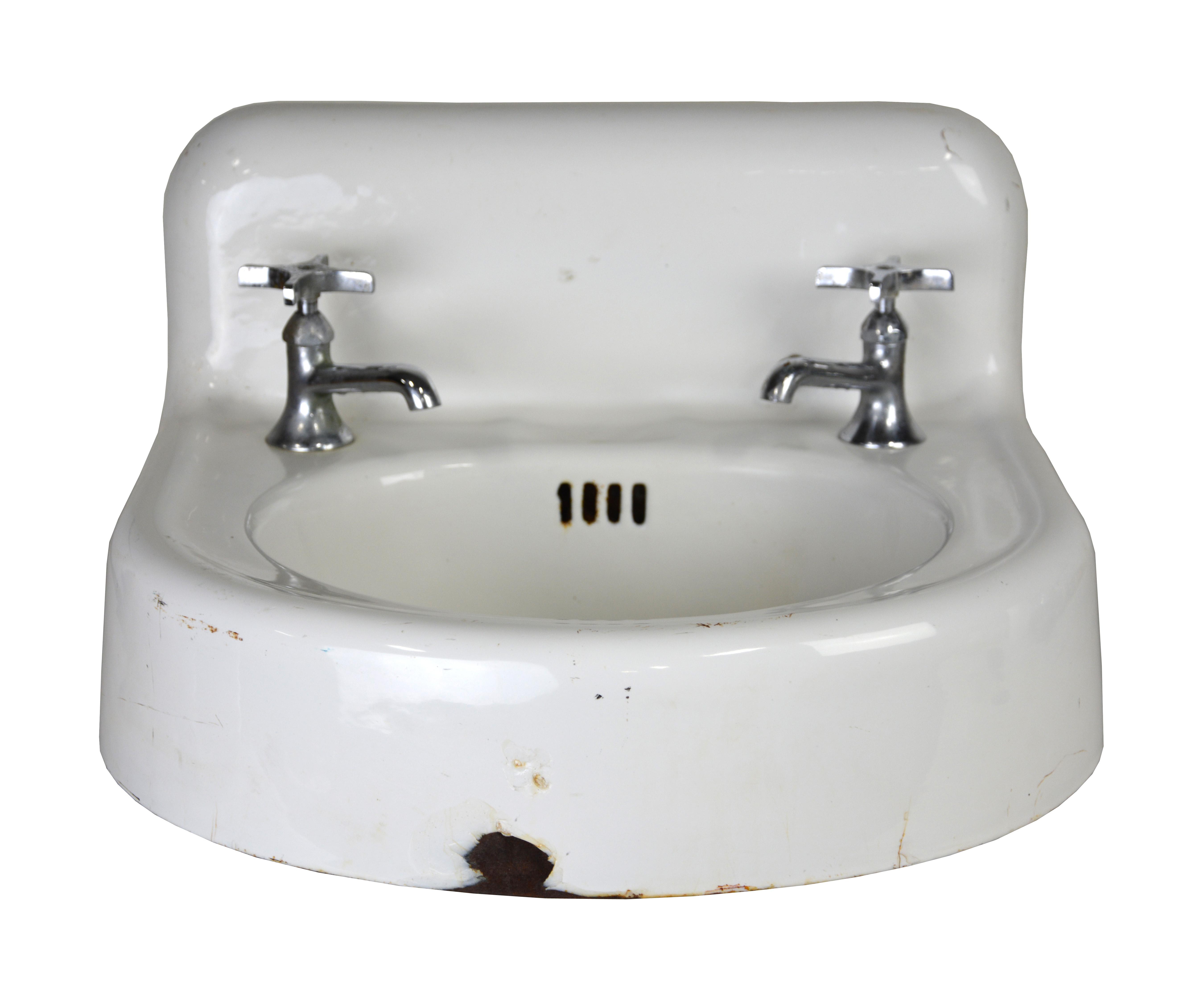Kohler Vintage Cast Iron Enamel Sink For Sale