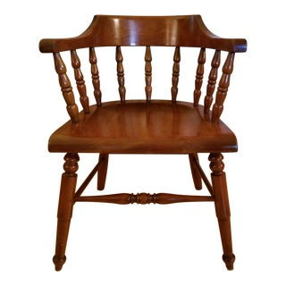 Traditional Stickley Cherry Armchair For Sale