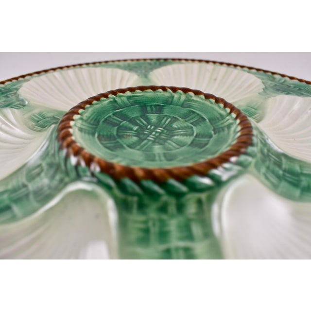 Longchamp St. Clément French Basketweave & Rope Oyster Plate For Sale - Image 4 of 7