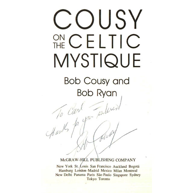 """Contemporary 1988 """"Signed Edition, Cousy on the Celtic Mystique"""" Collectible Book For Sale - Image 3 of 6"""