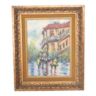 Elegant European Landscape Enamel on Copper Art by Mark Moses For Sale