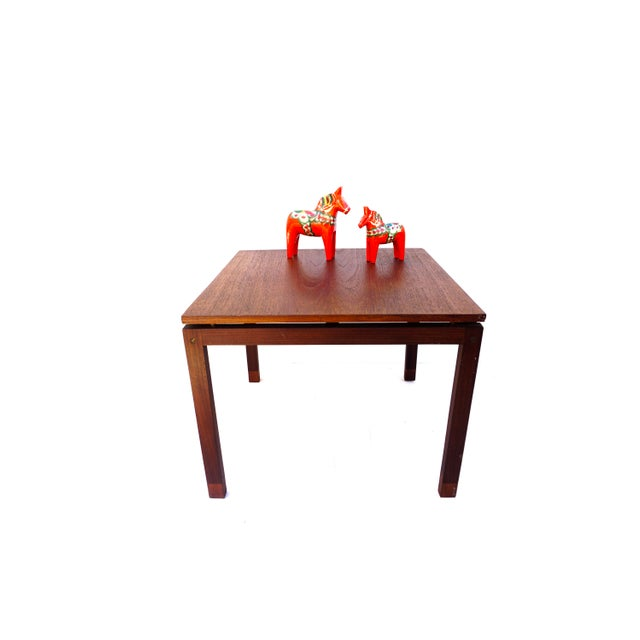 Mid-Century Hans Olsen Teak End Table || Made in Denmark || One of Two For Sale - Image 12 of 13