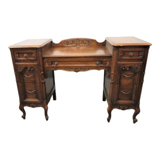 Louis XV Style Carved Oak Vanity For Sale