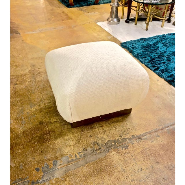 1980s Karl Springer Style Ottoman For Sale - Image 5 of 6