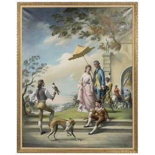 Hollywood Regency Mural in the Old Master Style