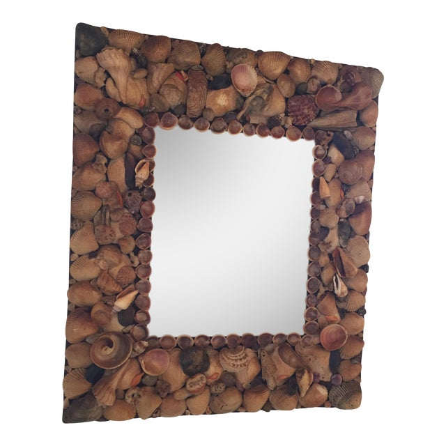 Vintage Shell Mirror For Sale