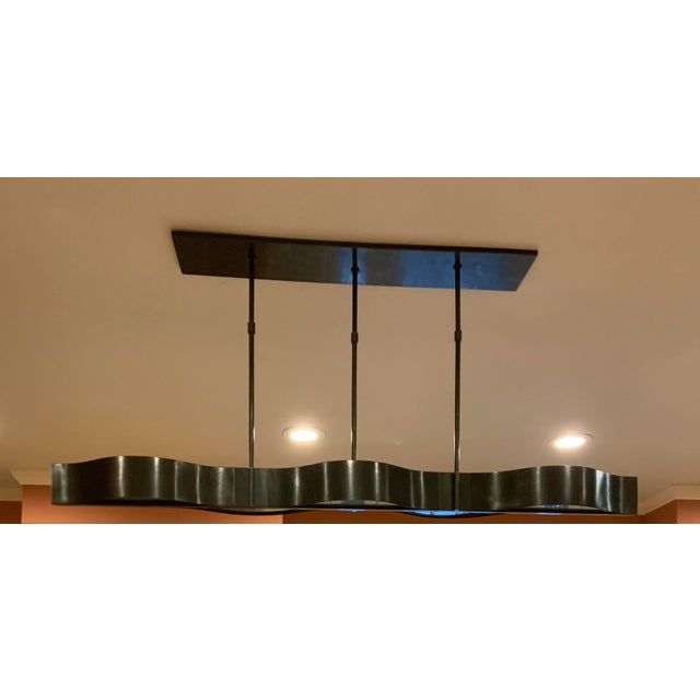 2010s Visual Comfort Modern Linear Chandelier For Sale - Image 5 of 6
