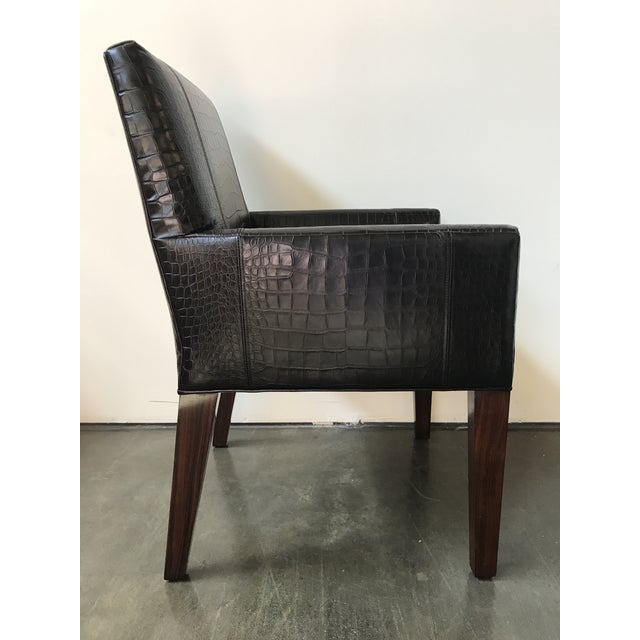 Modern Ralph Lauren Home Modern Metropolis Leather Armchairs - a Pair For Sale - Image 3 of 12