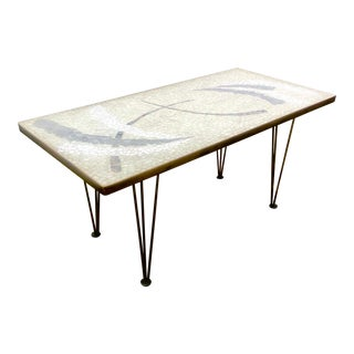 1960s Vintage Abstract Mosaic Tile Cocktail Table For Sale