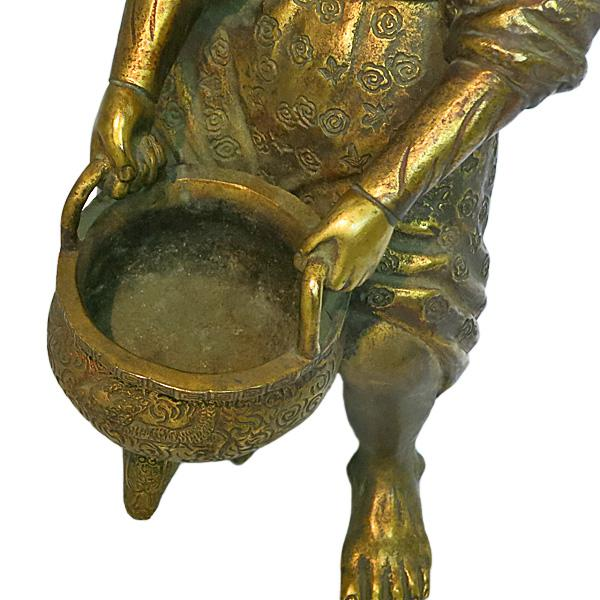 Late 19th Century Late 19th Century Vintage Japanese Meiji Period Gilt Bronze Figure For Sale - Image 5 of 7