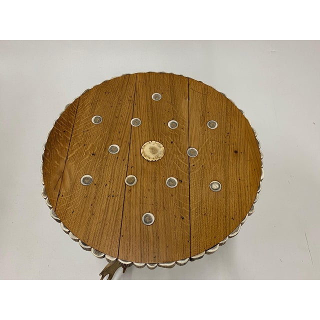 Wood Organic Modern Antler Side Table For Sale - Image 7 of 13