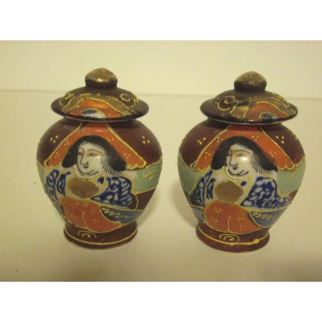 Satsuma Vases & Ginger Jars - Three Pair - Image 10 of 11