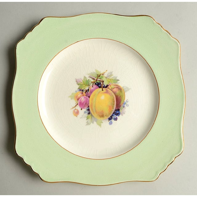 Royal Winton Square Salad Plate Mixed Fruit Motif - Set of 4 For Sale - Image 4 of 12