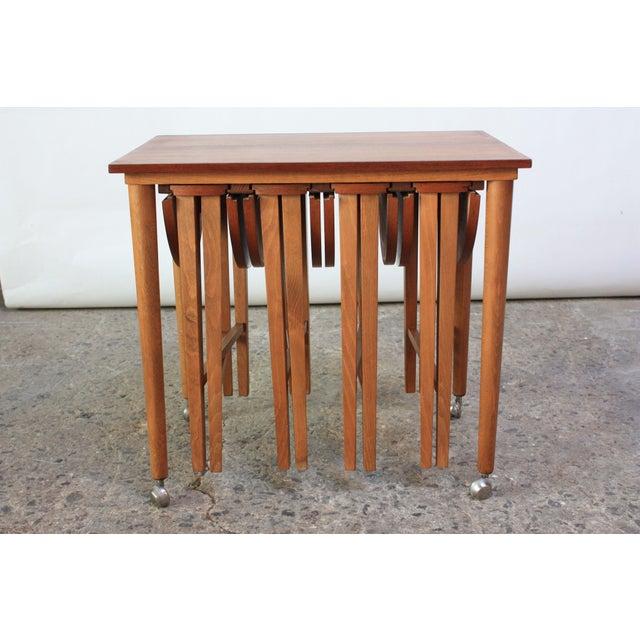 Set of Teak Serving Tables after Bertha Schaefer For Sale In New York - Image 6 of 10