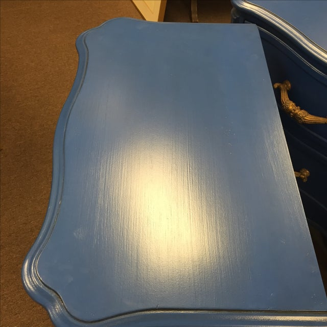 Blue Nightstands - A Pair - Image 5 of 8