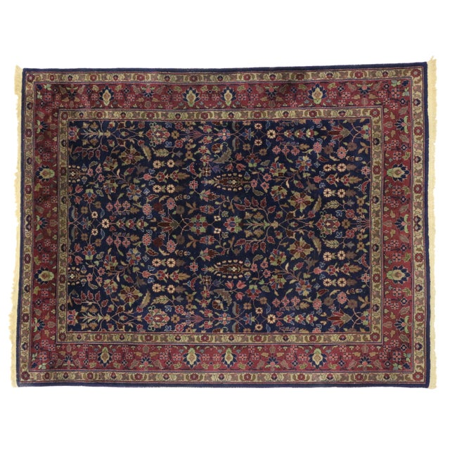 """Early 20th Century Early 20th Century Antique Indian Area Rug -8' X 10'1"""" For Sale - Image 5 of 6"""