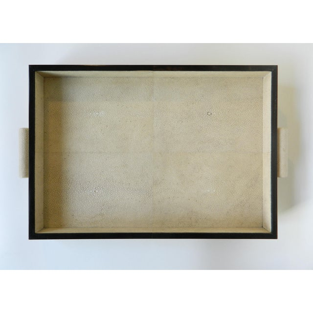 Genuine natural color shagreen rectangular tray. Galart specializes in boxes, humidors, trays, lamps and other high...