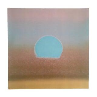 "Andy Warhol Original Fine Art Print "" Gold & Blue Sunset "" 1972"