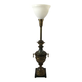 1960s Stiffel Brass Acanthus Leaf Lamp For Sale