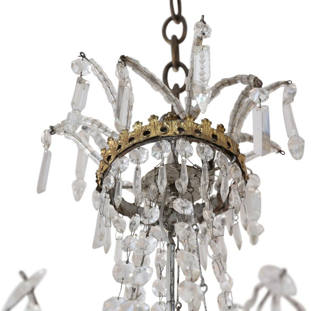 Late 19th Century Neoclassical Italian Gilt Chandelier For Sale - Image 5 of 10
