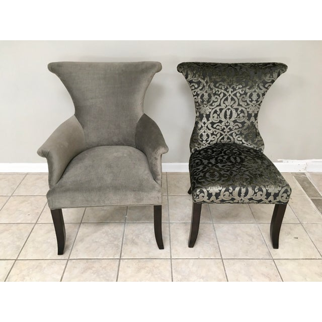 """Ebony Bernhardt """"Jet Set"""" Dining Table & 8 Chairs For Sale - Image 8 of 13"""