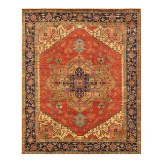 "Pasargad Serapi Wool Area Rug- 4' 11"" X 7' 10"" For Sale"