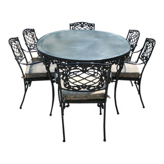 Brown Jordan Dining Table and Chairs For Sale