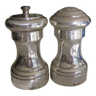 Cartier Sterling Silver Pepper Grinder & Salt Shaker - a Pair