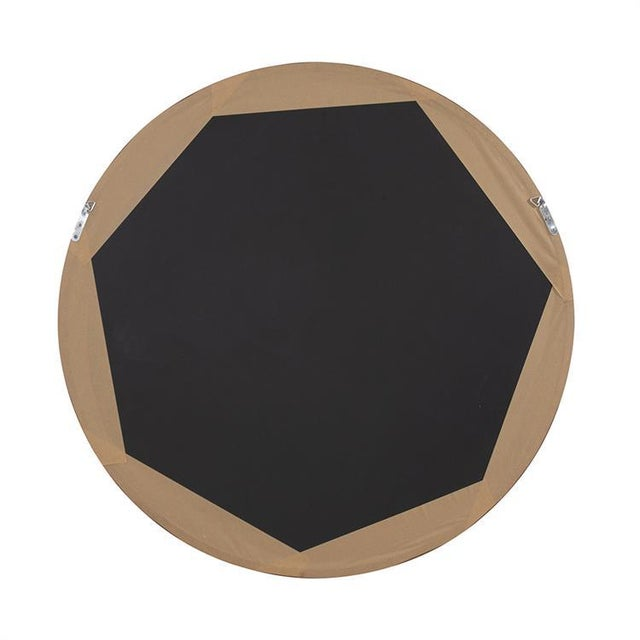 Contemporary Reagan Round Wood Mirror from Kenneth Ludwig Chicago For Sale - Image 3 of 6