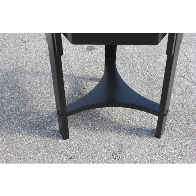 1940s 1940s French Art Deco Black Ebonized Coffee Table For Sale - Image 5 of 13