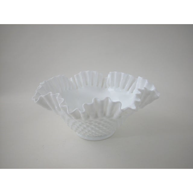 Vintage Milk Glass Hobnail Bowl - Image 4 of 6