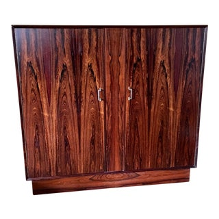 Mid Century Modern Westnofa Rosewood Gentleman's Chest For Sale