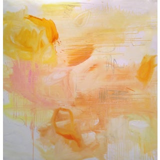 """Large Minimalist Abstract Painting by Trixie Pitts """"Monument Valley"""""""
