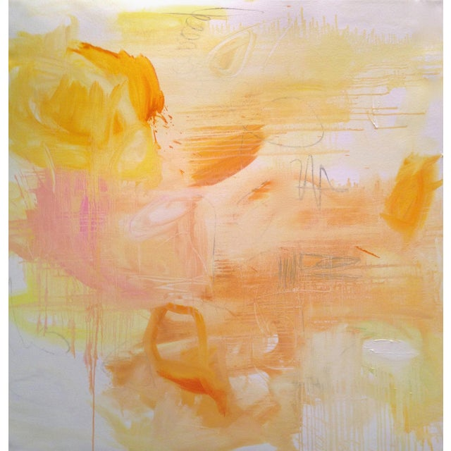 """Large Minimalist Abstract Painting by Trixie Pitts """"Monument Valley"""" - Image 1 of 4"""