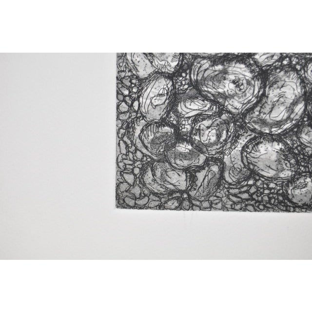 Abstract black and white etching by california artist arnold grossman image 4 of 6
