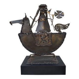 Vintage Mid-Century Jack Hanson for Hanson House Metal Brutalist Horse Sculpture For Sale