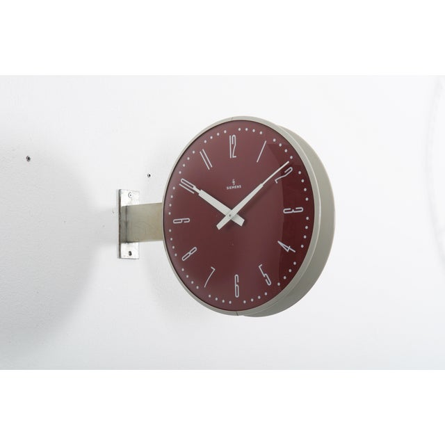 Siemens Halske Double Faced Train Station, Wokshop, Factory Clock For Sale - Image 10 of 10