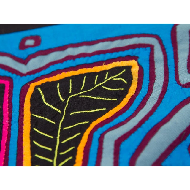 Abstract Textile Pillowcase - Handmade in Panama - Image 3 of 4
